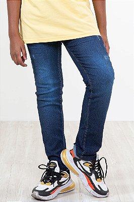 Calça jeans juvenil cós c/ regulagem