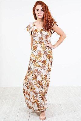Vestido transpassado Saia  c/ marias