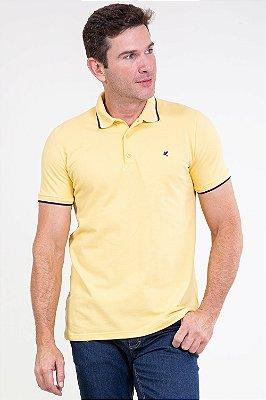 Camisa polo slim em piquet malwee