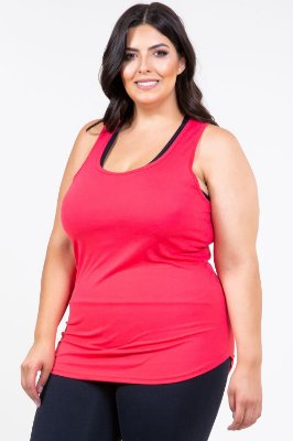 Regata lisa fitness plus size