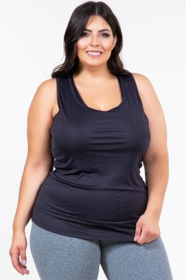 Regata costa nadador lisa fitness plus size