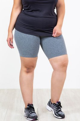 Bermuda cós largo plus size