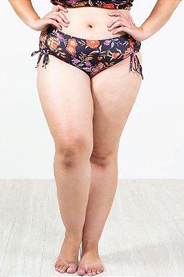 Calcinha biquini com lateral franzida plus size
