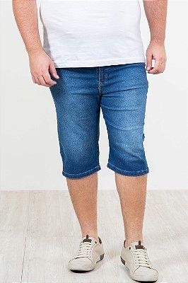 Bermuda jeans reta plus size