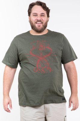 Camiseta manga curta plus size