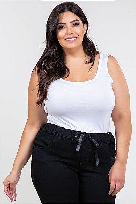 Blusa sem manga plus size