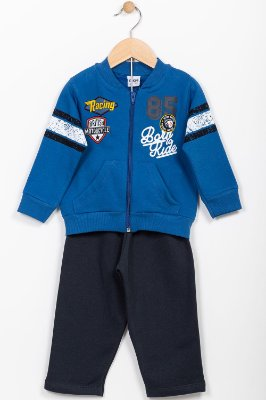 Conjunto moletom infantil jaqueta e calça Fakini