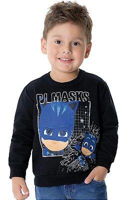 Blusão moletom infantil Pj Masks Malwee