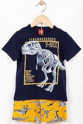 Conjunto infantil camiseta e bermuda Kyly