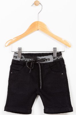 Bermuda jeans infantil cós personalizado