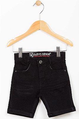 Bermuda jeans infantil com bolso