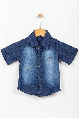 Camisa jeans infantil manga curta