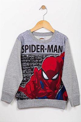 Blusão moletom infantil Spider Man Fakini