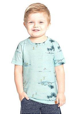 Camiseta infantil manga curta estampada Alakazoo