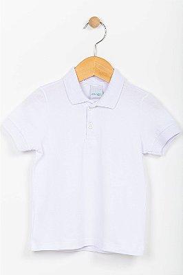 Camisa polo infantil manga curta lisa Malwee