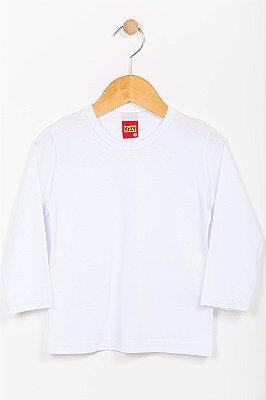 Camiseta infantil manga longa lisa Kyly