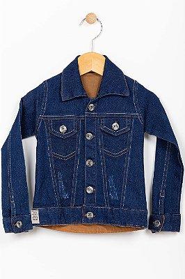 Jaqueta jeans infantil com desgaste