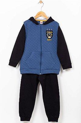 Conjunto moletom infantil jaqueta e calça Kiko