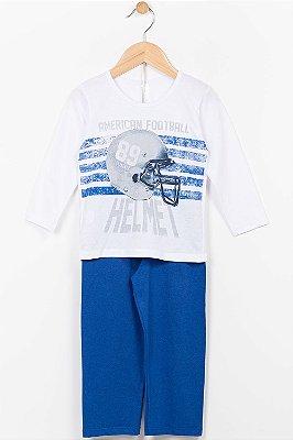 Pijama infantil camiseta manga longa e calça Malwee