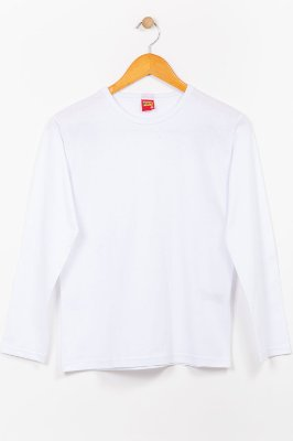 Camiseta básica juvenil manga longa Kyly