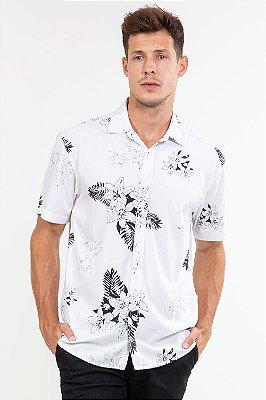 Camisa manga curta estampa floral