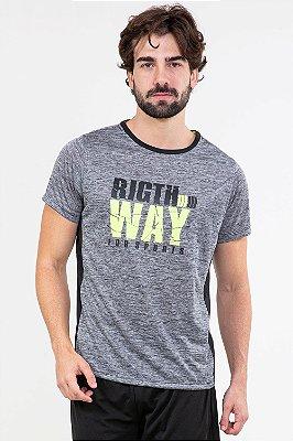 Camiseta manga curta fitness