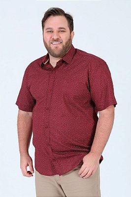 Camisa manga curta em algodão plus size