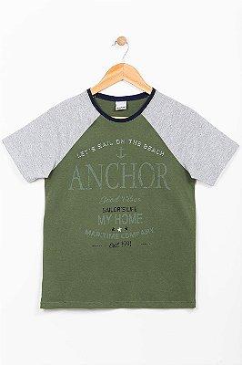 Camiseta juvenil manga curta com estampa malwee