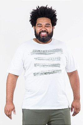 Camiseta manga curta plus size