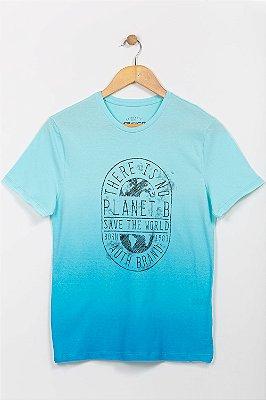Camiseta juvenil manga curta com estampa fico