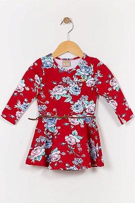 Vestido molecoton infantil manga longa milon