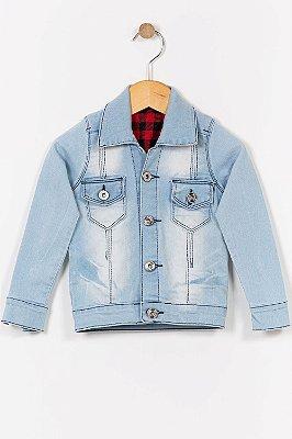 Jaqueta jeans infantil com bolso