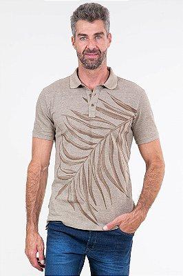 Camisa polo manga curta em piquet