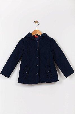 Jaqueta infantil com capuz lisa kyly
