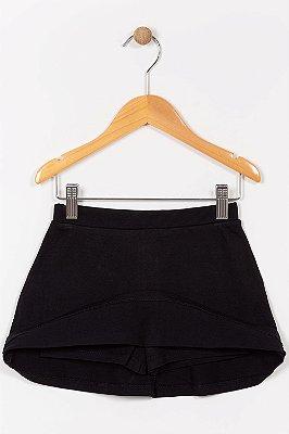 Shorts saia infantil liso malwee
