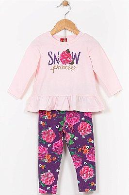 Conjunto infantil blusa manga longa e legging kyly