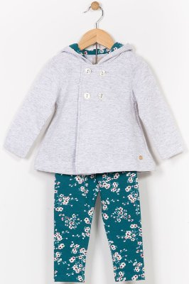 Conjunto moletom infantil casaco e legging milon