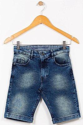 Bermuda jeans juvenil com bolso