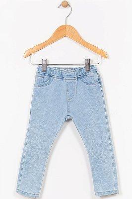 Calça jeans moletom infantil jogger