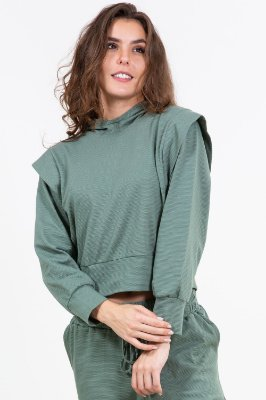 Blusa lyon  manga longa com capuz
