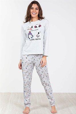 Pijama longo estampado pzama