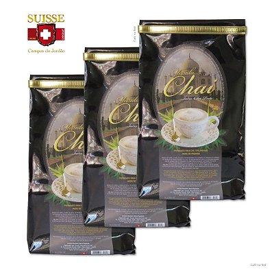 Kit com 3 pacotes de Masala Chai - Chá Preto Indiano (280g cada)