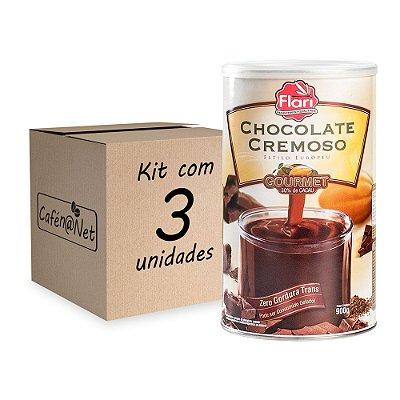 Kit com 3 unidades de Chocolate Cremoso Flari (900g cada)