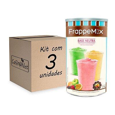 Kit com 3 unidades de Frappemix Flari Base Neutra (1,1kg cada)