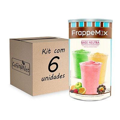 Kit com 6 unidades de Frappemix Flari Base Neutra (1,1kg cada)