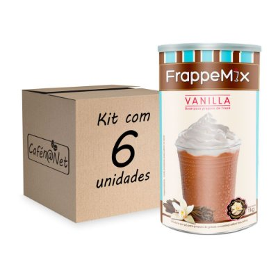 Kit com 6 unidades de Frappemix Flari Baunilha (1kg cada)