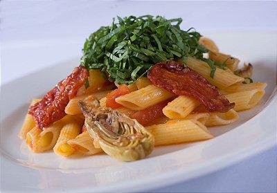 Penne Ai Carciofini, Pomodori Secchi e Rucola (gluten e lactose free)