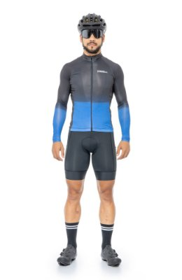 Camisa de Ciclismo Masculina Manga Longa Slim