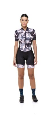 Macaquinho Ciclismo Feminino - Estampado - Camuflado S229-78