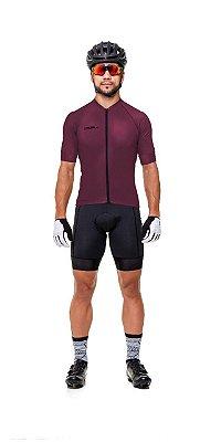 Camisa de Ciclismo Masculina em Poliamida UV50+, Lisa